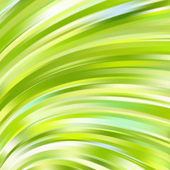 Colorful smooth light lines background. Green, yellow, white colors