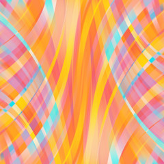 Colorful smooth light lines background. Yellow, orange, pink colщкы