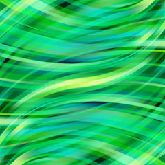 Colorful smooth light lines background. Green colors