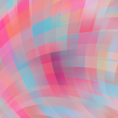 Colorful smooth light lines background. Pink, blue, beige colors