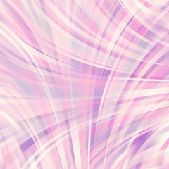 Colorful smooth light lines background. Pastel pink, white color