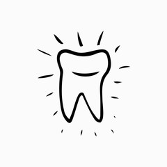 Tooth. Icon vector silhouette. Health, medical or doctor and dentist office symbols. Oral care, dental, dentist office, tooth health, tooth care, clinic. Tooth logo. Tooth icon,  tooth Icon design.