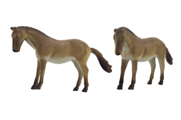 Isolated horse toy photo. Isolated horse toy side and angle view photo.