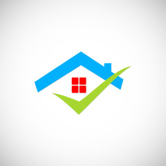 home roof business vector logo