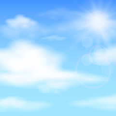 Summer blue sky, vector