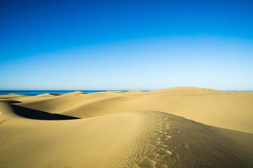 Blue sky over Maspalomas Dunes/ Spain