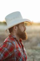 Portrait of a cowboy man
