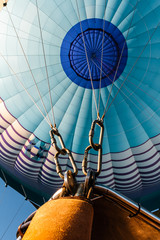 Closeup of a hot air balloon