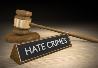 Laws against hate crimes and intolerance, 3D rendering