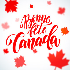 Bonne Fete Canada Day greeting card in French