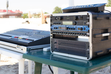 Sound equipment for Summer beach party
