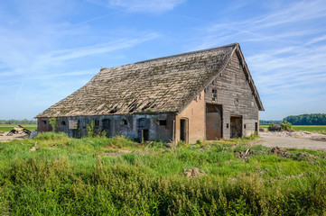 Historic barn ready for demolition