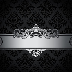 Wall Mural - Black and silver vintage background.