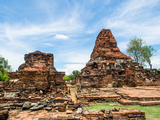 Damaged stupa in  Phra Phai Luang Temple in Sukhothai Historical Park, Sukhothai, Thailand