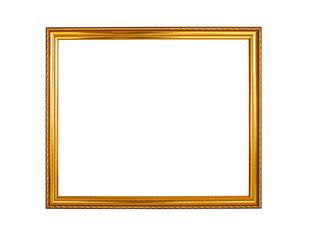 gold color wooden photo frame background