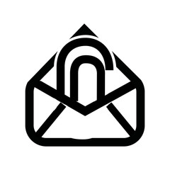 attach file email setup isolated icon design