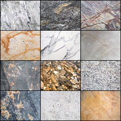 Collage of marble surface