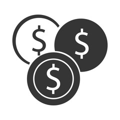 Money design. coin icon. Flat and isolated illustration