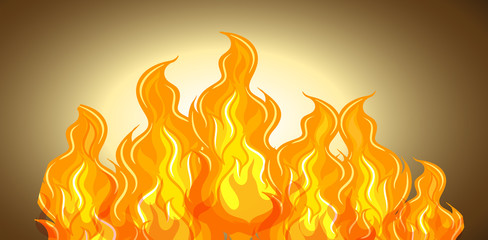 Flame of fire background