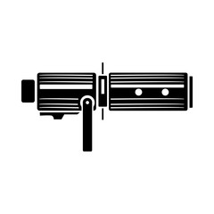 Studio lighting equipment icon, simple style