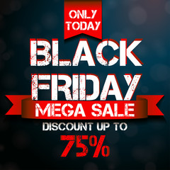 Black Friday mega sale design template.
