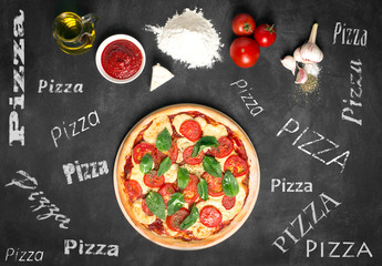 Prepared pizza and its ingredients
