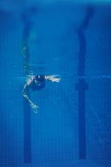 Swimmer woman underwater