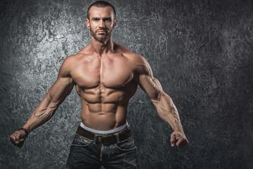 Muscular bearded man