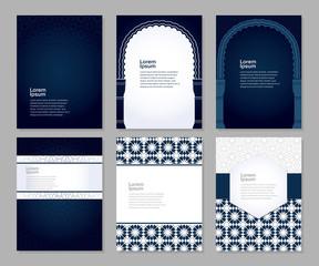 Banners set arabic ornament