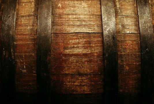 Barrel texture - old beer barrel close-up