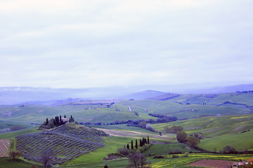 Bellissimo panorama della val d'Orcia in Toscana