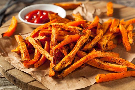 Healthy Homemade Baked Sweet Potato Fries