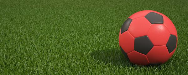 Ball On Grass Of Stadium