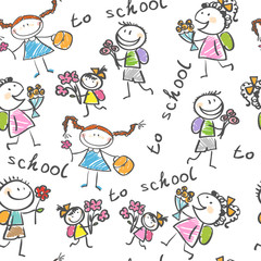 background cheerful children. Vector