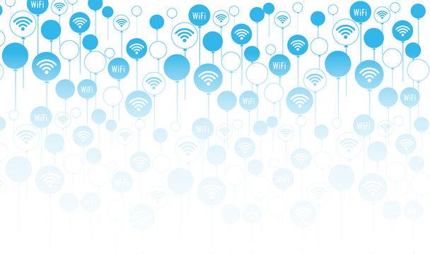 wireless Wifi balloon background pattern