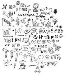 Business doodles sketch eps10 vector