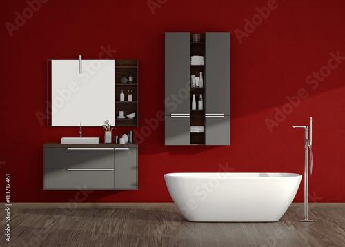 Bad Badezimmer Badeinrichtung Badewanne Wanne Stock Photo And