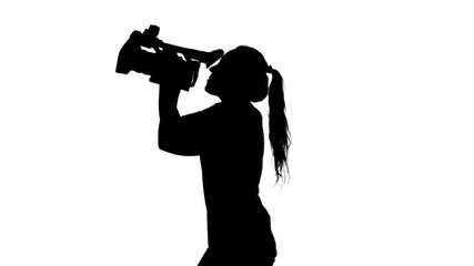 Image result for Sexy Woman TV reporter silhouette