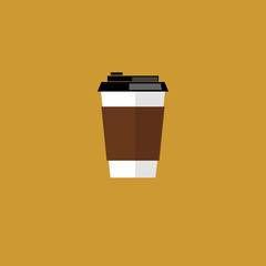 Coffee cup. Coffee cup vector illustration. Coffee cup icon. Coffee cup isolated on background. Coffee cup in flat style.