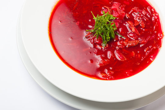 Red Borsch with meat