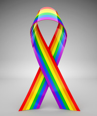 Rainbow ribbon - 3d rendering
