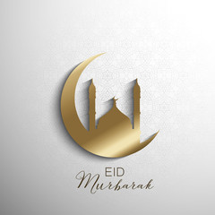 Minimilistic Eid Mubarak background