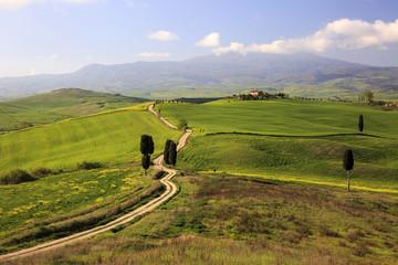 La meravigliosa val d'Orcia in Toscana