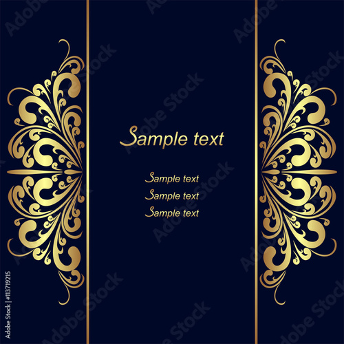 """ Navy Blue Background With Golden Royal Borders"" Stock ..."