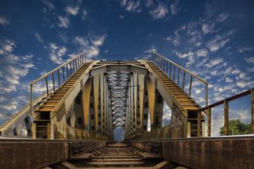 railroad steel bridge leading to heaven