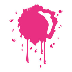 Paint design. Splash icon. vector graphic