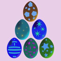 Glowing Easter Eggs.