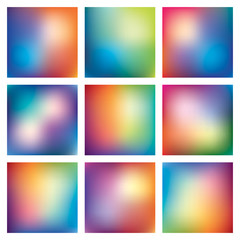 Mega set, nine abstract vector mesh background, color gradient, vector wallpaper for you projects