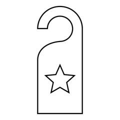 Star shape of five points design, success concept, vector graphi