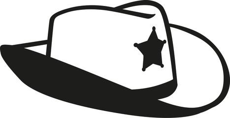 Sheriff cowboy hat